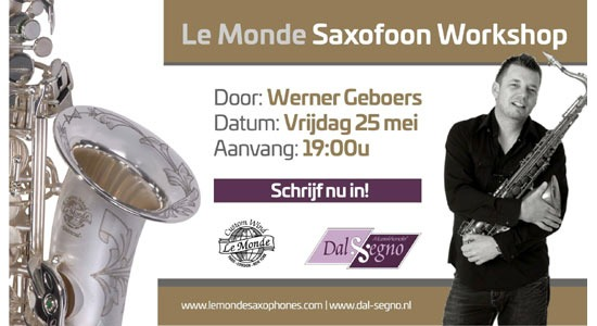 Le Monde Saxofoon Workshop door Werner Geboers