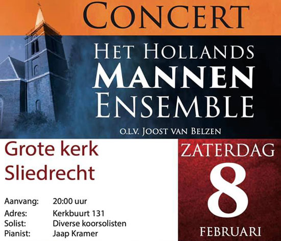 Concert  Kleinkoor Concertino en het Hollands Mannen Ensemble