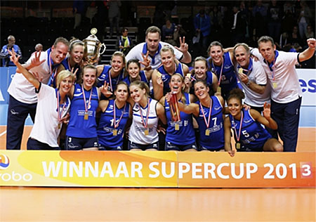 Dames 1 wint in vijf sets superspannende Supercup Finale van Alterno