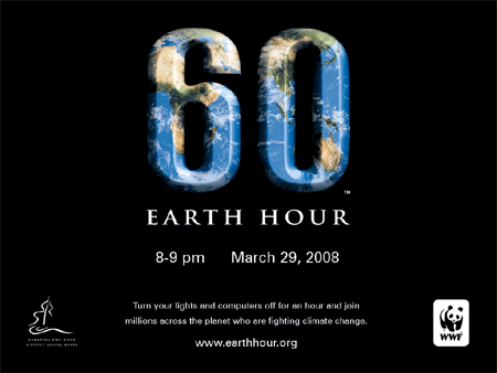 Earth Hour:  Doe ook mee?
